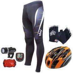 ราคา Cma กางเกงปั่นจักรยานขายาว Sky หมวกจักรยาน สีส้ม Sunding ไมค์จักรยาน สีแดง ไฟชุดจักรยานรุ่น Wj 101 สีดำ ถุงมือฟรีไชค์ หมาป่าสีดำ Cma ใหม่