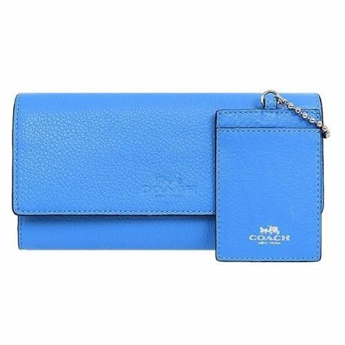new product db41d af765 ลดราคา พิเศษสุด ๆ COACH F53708 TRIFOLD WALLET IN PEBBLE ...