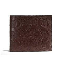 ขาย Coach กระเป๋าสตางค์ Compact Id Wallet In Signature Crossgrain Leather F75371 Mahogany Coach ถูก
