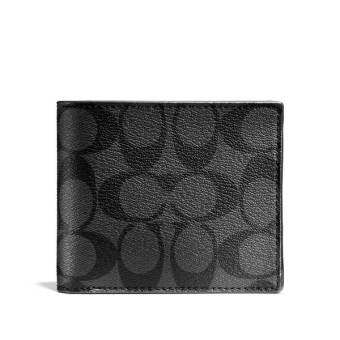 Coach กระเป๋าสตางค์ F74993 COMPACT ID WALLET IN SIGNATURE (MABR)-