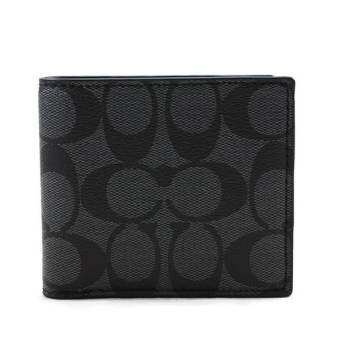 Coach กระเป๋าสตางค์ F75083 DOUBLE BILLFOLD WALLET IN SIGNATURE (CQBK)-