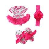 ขาย Cocotina Newborn Baby Girls Floral Romper Dress Jumpsuit Outfits Headband Shoes Rose Red Cocotina เป็นต้นฉบับ