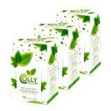 ซื้อ Colly Chlorophyll ผลิตภัณฑ์เสริมอาหาร คอลลี่ คลอโรฟิล 15 ซองX3 กล่อง ถูก