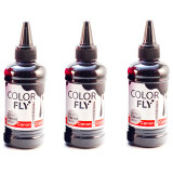 Colorfly หมึกเติม Canon เกรดA สีดำ 100Ml 3ขวด Black ใหม่ล่าสุด