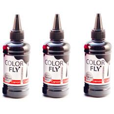ราคา Colorfly หมึกเติม Canon เกรดA สีดำ 100Ml 3ขวด Black Colorfly เป็นต้นฉบับ