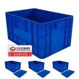ขาย Containy ลังพลาสติกทึบ Box 8069 สีน้ำเงิน 3 ใบ พร้อมฝา ขนาด 42 X 61 X 32 ซม ไทย ถูก