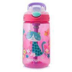 ขาย Contigo Kids Gizmo Flip Pink With Cat กระติกน้ำเด็กพร้อมหลอดดูด สีชมพูลายแมว ขนาด 414 Ml Contigo เป็นต้นฉบับ