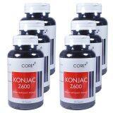 ส่วนลด Core Konjac Z600สารสกัดจากผงบุก ลดการดูดซึมน้ำตาล และไขมัน บรรจุ50แคปซูล 6กระปุก ไทย