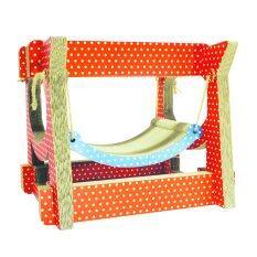 ขาย Cpd Ideasที่นอนแมวKitty Swing Orange Polka Dot Cpd Ideas ผู้ค้าส่ง