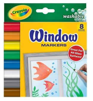 Crayola สีเมจิกเขียนกระจก8สี ล้างออกได้