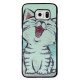 ซื้อ Cute Smile Cat Painting Phone Case For Samsung Galaxy S6 Multicolor จีน
