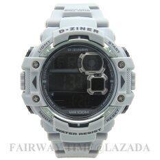 ราคา D Ziner นาฬิกาข้อมือแนว Sport ชาย ระบบ Digital สายยาง กันนํ้า 100 รุ่น Dz781 005 ราคาถูกที่สุด