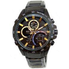 ขาย D Ziner นาฬิกาข้อมือชาย 2 ระบบ ขีดชั่วโมงสีทอง เรือนดำ สายเหล็ก สีดำ ถูก กรุงเทพมหานคร