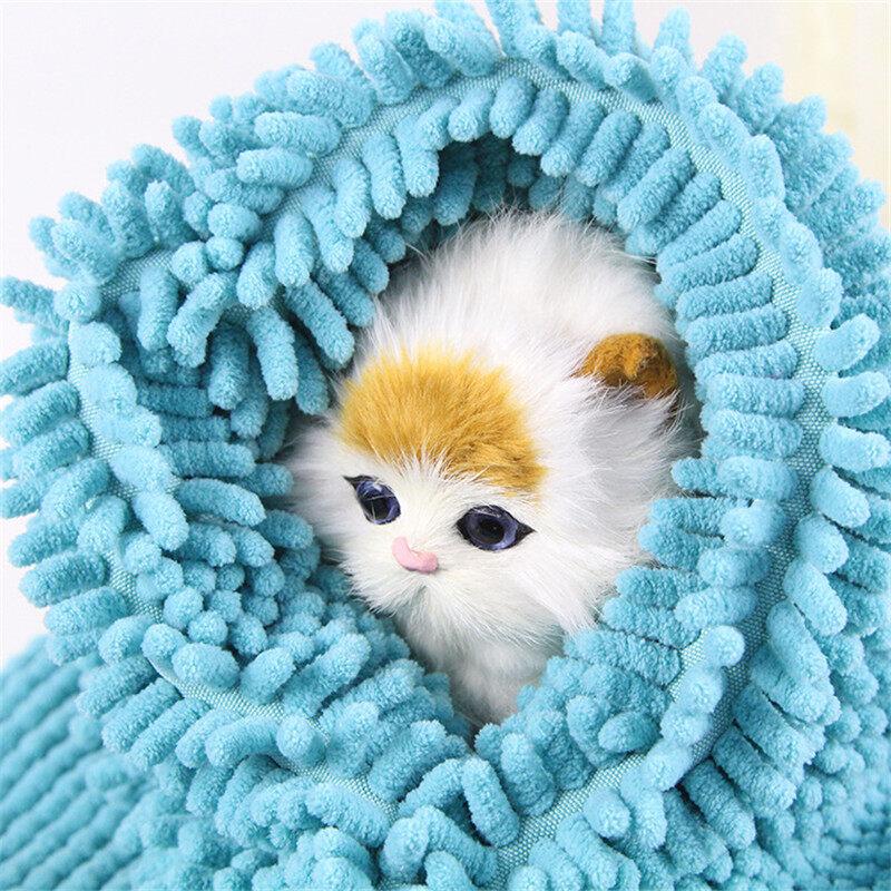 Large Pet Microfiber Towel Dog Cat Cleaning Drying Bath Towel Super Absorbent