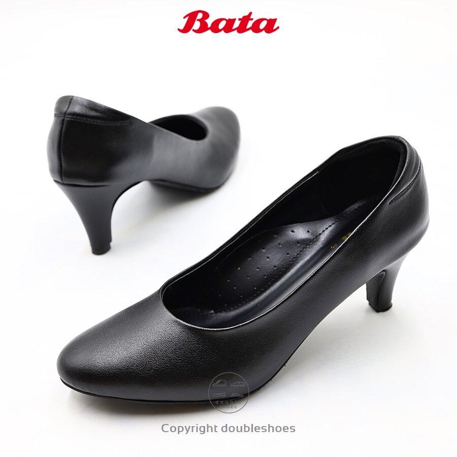 Bata รองเท้าคัทชูนักศึกษา คัทชูทางการ หัวแหลม ส้น 2.5 นิ้ว รุ่น 751-6873 ไซส์ 36-41 (3-8).