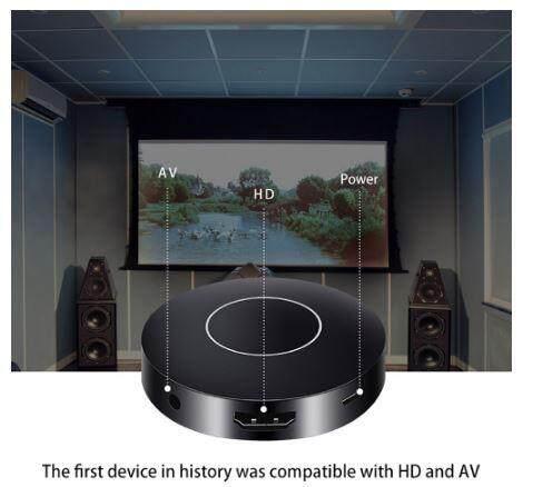 Hdmi 1080p Tv Stick Hd + Av Output Q1 Mirroring Dongle ตัวรับสัญญาณ Wifi Youtube Pc Android Tv Stick  ไร้สาย อุปกรณ์เชื่อมต่อมือถือกับทีวี อุปกรณ์ส่งภาพจากมือถือเข้าทีวี ของเท้ 100%.