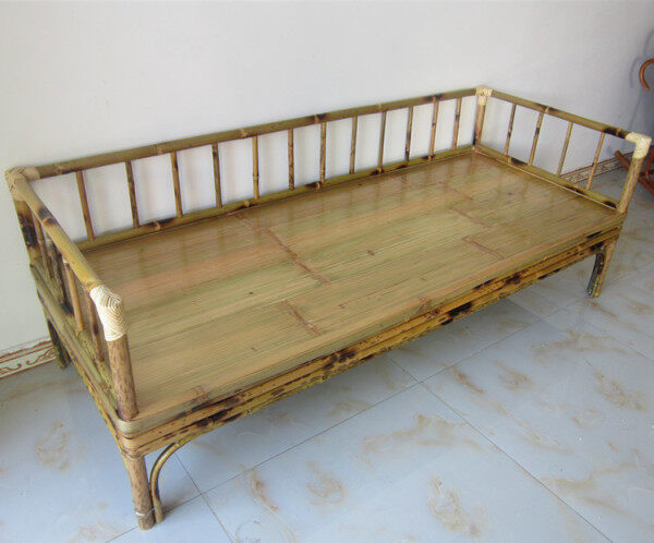 Bamboo Furniture Bamboo Bed Arhat Bed Bamboo Tatami Bed Bamboo Sofa Modern Chinese Style Living Room Sofa Chair