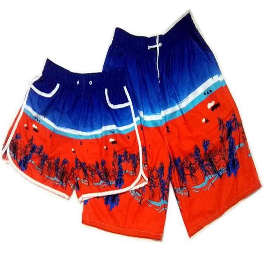 2 ชิ้น/เซ็ตกางเกงขาสั้นกางเกงชายหาดฤดูร้อนว่ายน้ำกางเกงว่ายน้ำสำหรับชายหญิง By Hhhappy Store.