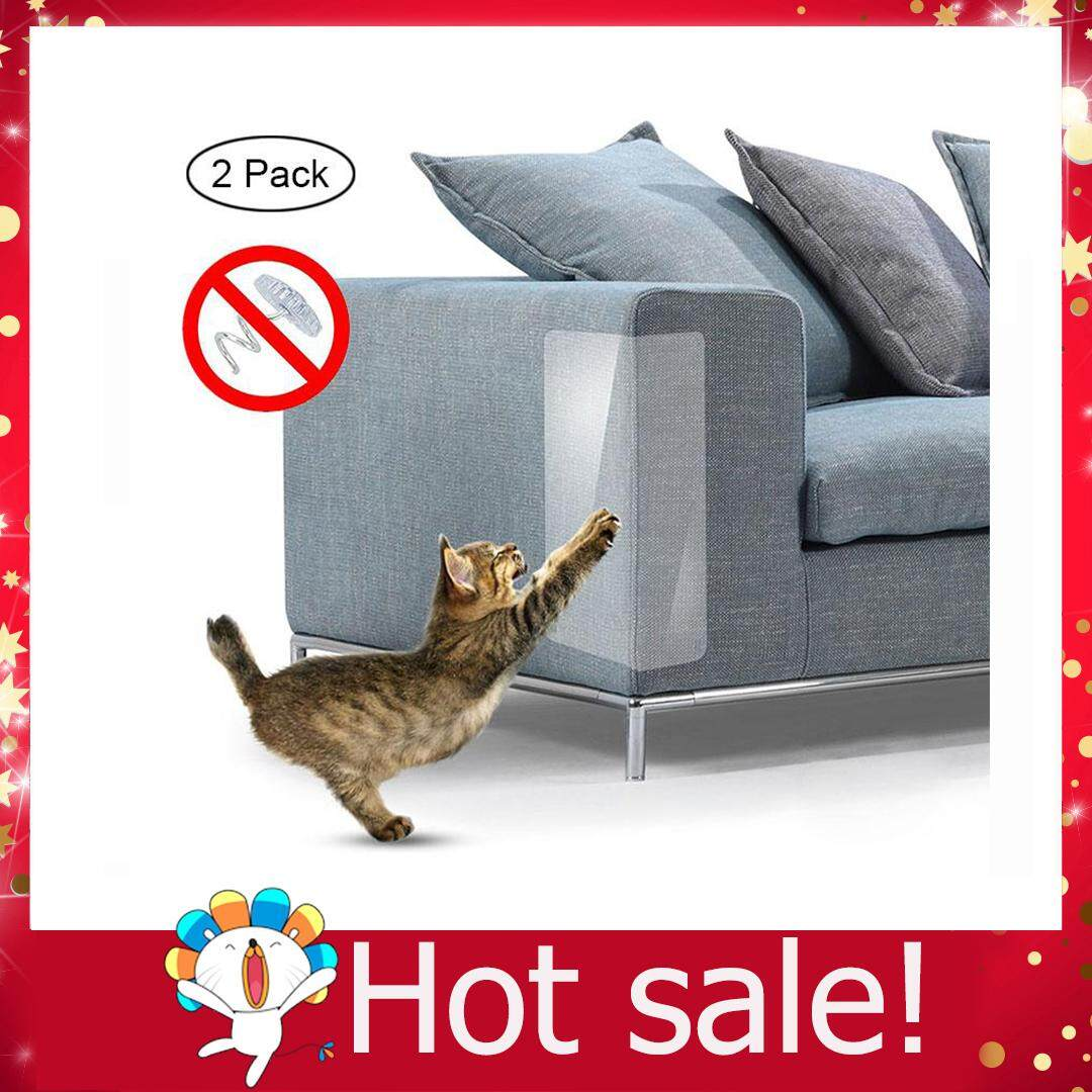 Ltplaza Cat Scratch Furniture, 2 Pcs Clear Premium Heavy Duty Flexible Vinyl Pet Couch Protector Guards For Protecting Your Furniture, Stops Scratching Cats Furniture Protector By Ltplaza.