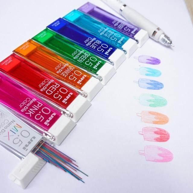 ไส้ดินสอกดสีๆ Uni Nanodia Color สีสดสวย ลบได้เหมือนไส้ดินสอทั่วไปจ้า By Art Gallery.