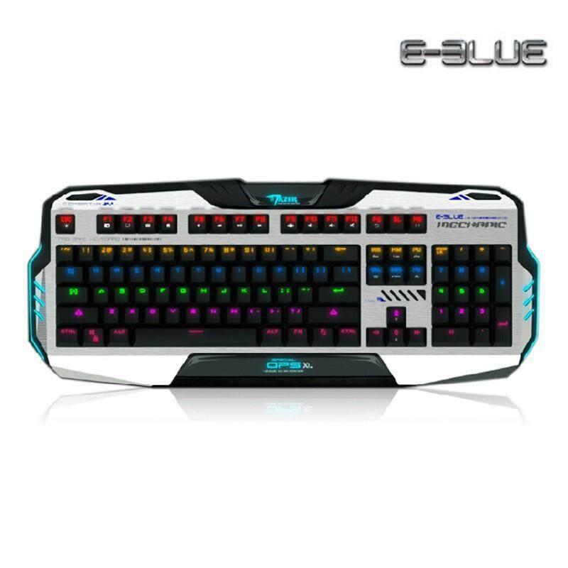 คีย์บอร์ด คีย์บอร์ดพีซี คีย์บอร์ดไร้สาย คีย์บอร์ดบลูทูธ คีย์บอร์ดคอมพิวเตอร์ คีย์บอร์ดโน้ตบุ๊ก คีบอร์ด E-Blue Gaming Keyboard รุ่น Mazer Mechanical - Blue Sw โปรโมชั่น ราคาถูก.