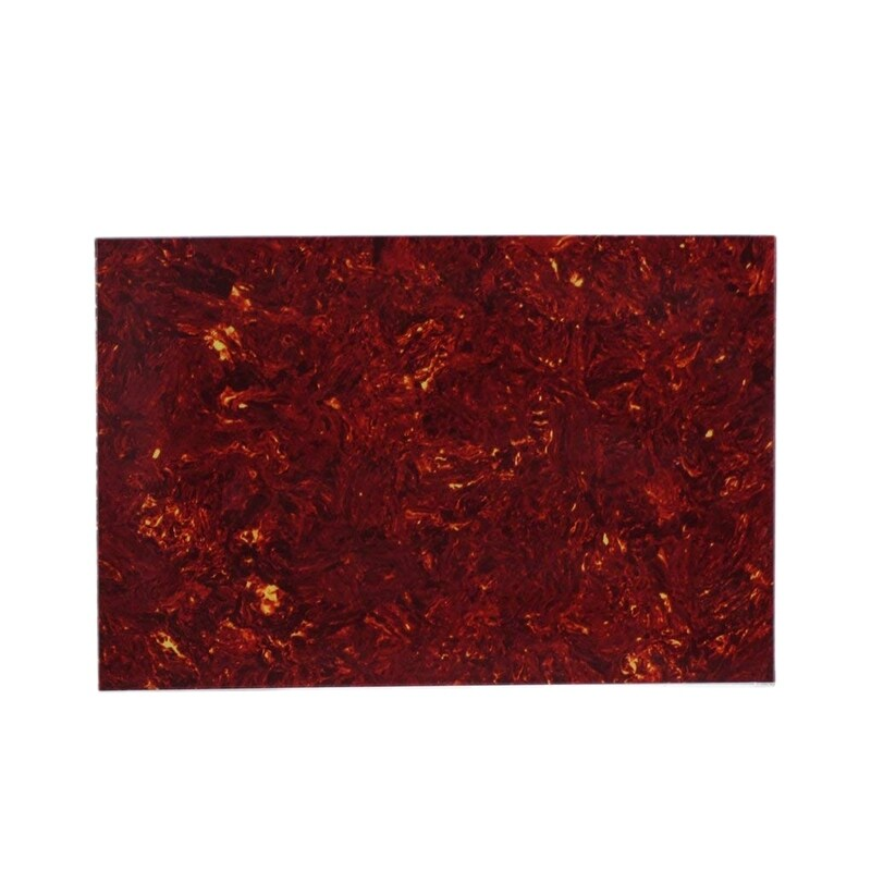 3Ply Guitar Bass Pickguard Red Tortoise Initial Material Initial Scratch Plate 435x290mm