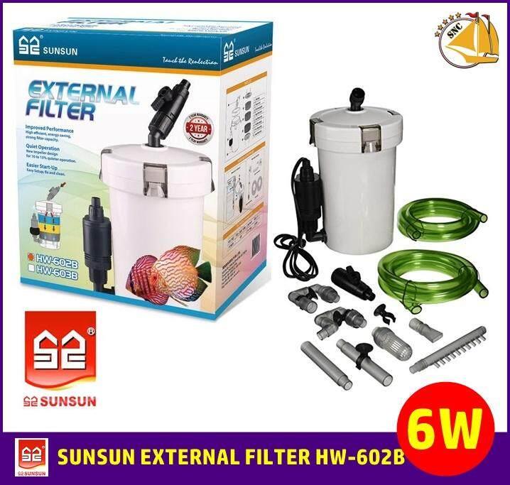 กรองนอก Sunsun External Filter Hw-602b กรองตู้ปลา Hw602b By Snc Fishshop.