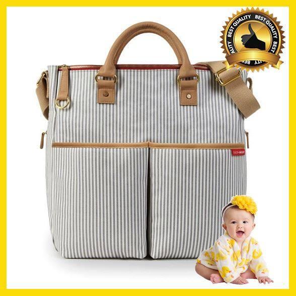 กระเป๋าคุณแม่ กระเป๋าสัมภาระคุณแม่ กระเป๋าแม่ลูกอ่อน กระเป๋าใส่ของลูก กระเป๋าใส่ขวดนม Skip Hop Duo Special Edition Diaper Bag - French Stripe กระเป๋าสัมภาระคุณแม่ กระเป๋าคุณแม่ กระเป๋าสัมภาระคุณแม่ กระเป๋าแม่ลูกอ่อน กระเป๋าใส่ของลูก กระเป๋าใส่ขวดนม.