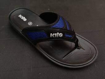 KITO รองเท้าแตะฟองน้ำผู้ชายหูหนีบ กีโตรองเท้าแตะหูหนีบ แบบคีบผู้ชาย รองเท้าใส่หน้าร้อน เที่ยวทะเล รองเท้ารุ่นฮิต รองเท้าผู้ชายลำลองแบบหนีบ สีกรม