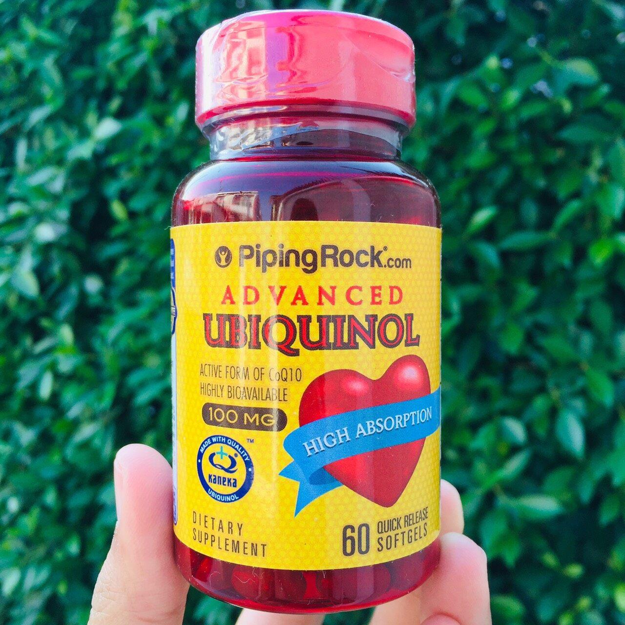 ยูบิควินอล Advanced Kaneka Ubiquinol™ 100 Mg 60 Quick Release Softgels (piping Rock®) ช่วยให้หัวใจและหลอดเลือดแข็งแรง.