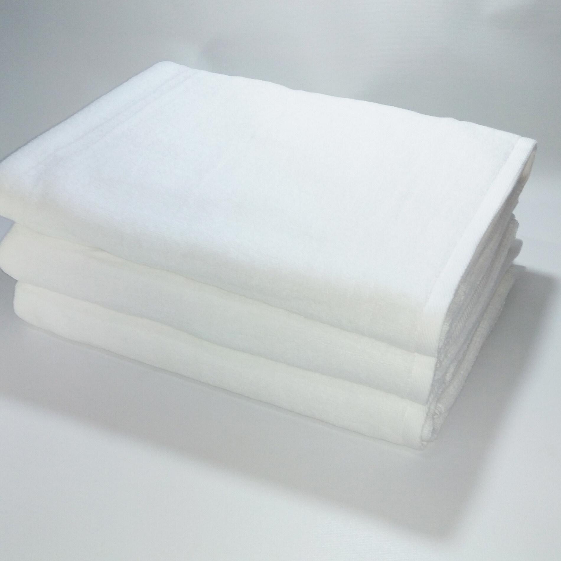 ผ้าเช็ดตัวเกรดโรงแรม ขนาด 75x150 ซม. ผ้าขนหนูคอตตอนแท้ 100 % น้ำหนักผืนละ 500 กรัม (14 ปอนด์) จำนวน 1 ผืน.