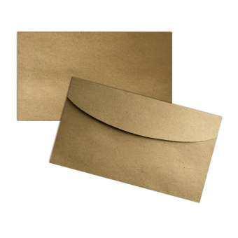 ซองใส่การ์ด ซองการ์ดแต่งงาน การ์ดแต่งงาน การ์ดเชิญ บัตรเชิญ กระดาษคราฟ สีน้ำตาล ขนาด 4x7นิ้ว แพ็ค 50 ใบ