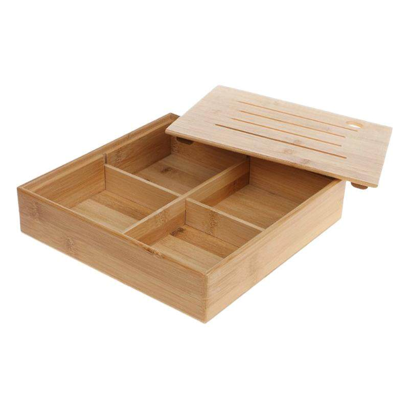 Storage Tray Dried Fruit Plate Kitchen Living Room Wood 4 Grid Wedding Candy Box Snack Japanese Storage Bowl Jewelry Box