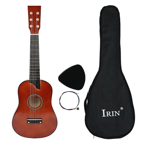 IRIN 25 Inch Basswood Acoustic 12 Frets 6 Strings Guitar with Pick and Strings for Beginner Children Coffee Color Malaysia