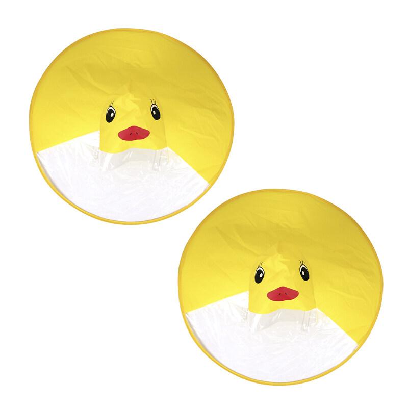 Giá bán 2Pcs Ufo ChildrenS Raincoat Cute Yellow Duck Rain Cover Waterproof ChildrenS Umbrella Cover Girl Boy Poncho Coat - S & L