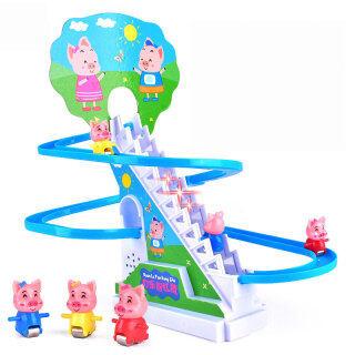 Mô hình mô phỏng hình chú heo leo cầu thangđồ chơi cho trẻ em - INTL thumbnail