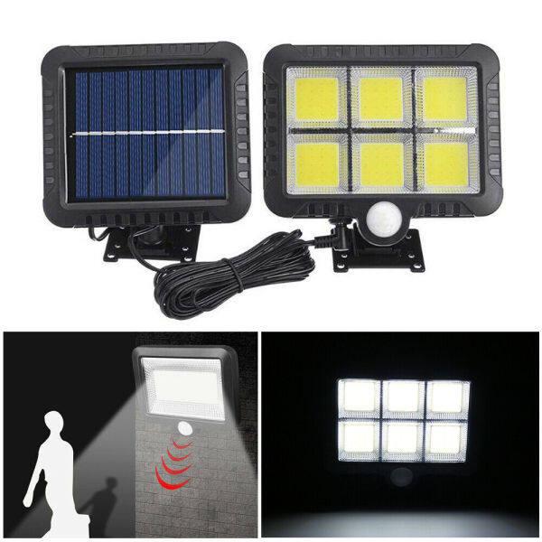 Bảng giá HRRIUNG Porch Lights Garden Flood Lamp Outdoor PIR Motion Sensor Motion Light 100/120 LED Solar Powered Wall Light