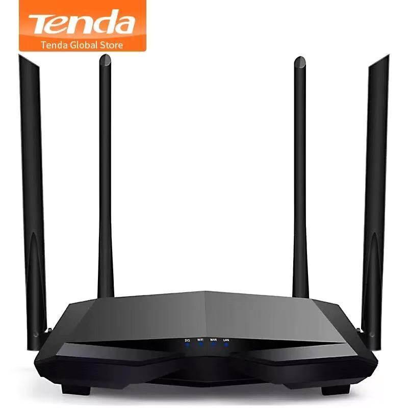 Tenda เร้าเตอร์ไวเลส Ac6  4 เสาอากาศ 2.4g/5.0ghz Smart Dual Band Ac1200 Wireless Wifi Router Wi-Fi Repeater คู่มือภาษาไทย รับประกัน 1 ปี.