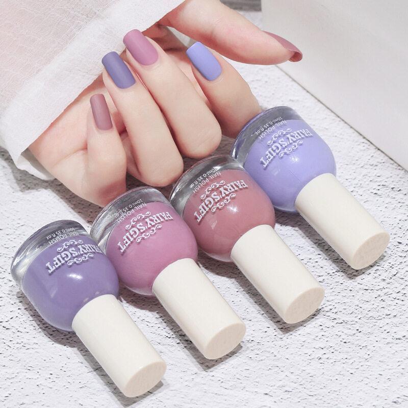 ยาทาเล็บเนื้อแมท ยาทาเล็บสีด้าน สีทาเล็บเนื้อแมท สีสวย ทาง่าย สินค้าพร้อมจัดส่ง.