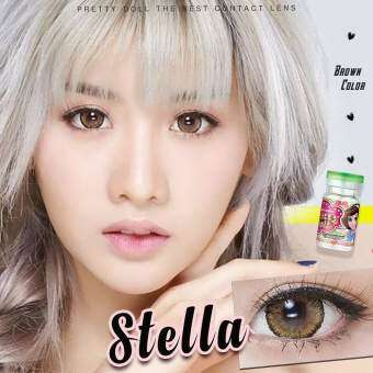 pretty doll Little Stella Brown บิ๊กอายสายตาปกติ  สายตาปกติ มินิ มินิเท่าตาจริง  บิ๊กอายสายตาปกติ powerlenses 0.00  50  75 225 325 425 475 550 600 650 700 750 รหัสสินค้า 045