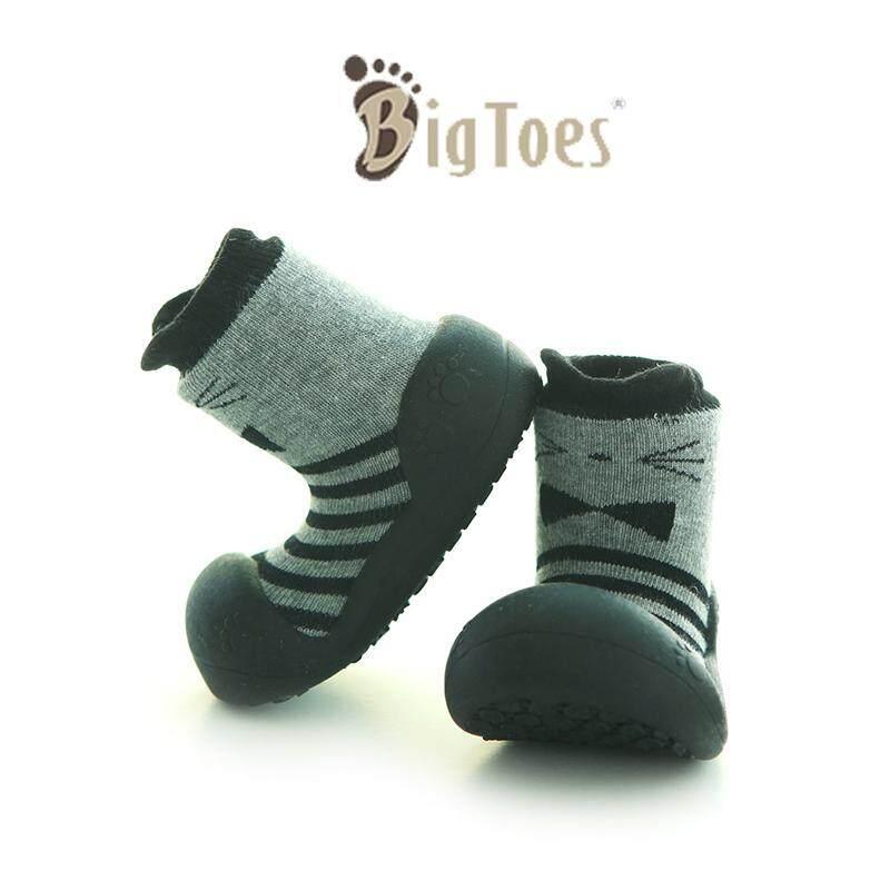 ราคา รองเท้าเด็กหัดเดิน รองเท้าเด็ก Bigtoes ลาย Dandy Gray (สีเทาเข้ม) รองเท้าเด็กอ่อน
