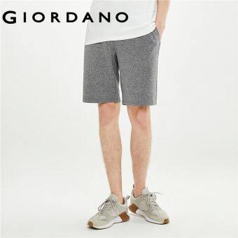 Giordano Men กางเกงขาสั้นลำลองเอวยางยืดที่ให้ความรู้สึกเย็นสบายเทคโนโลยีขั้นสูง Free Shipping 01101497
