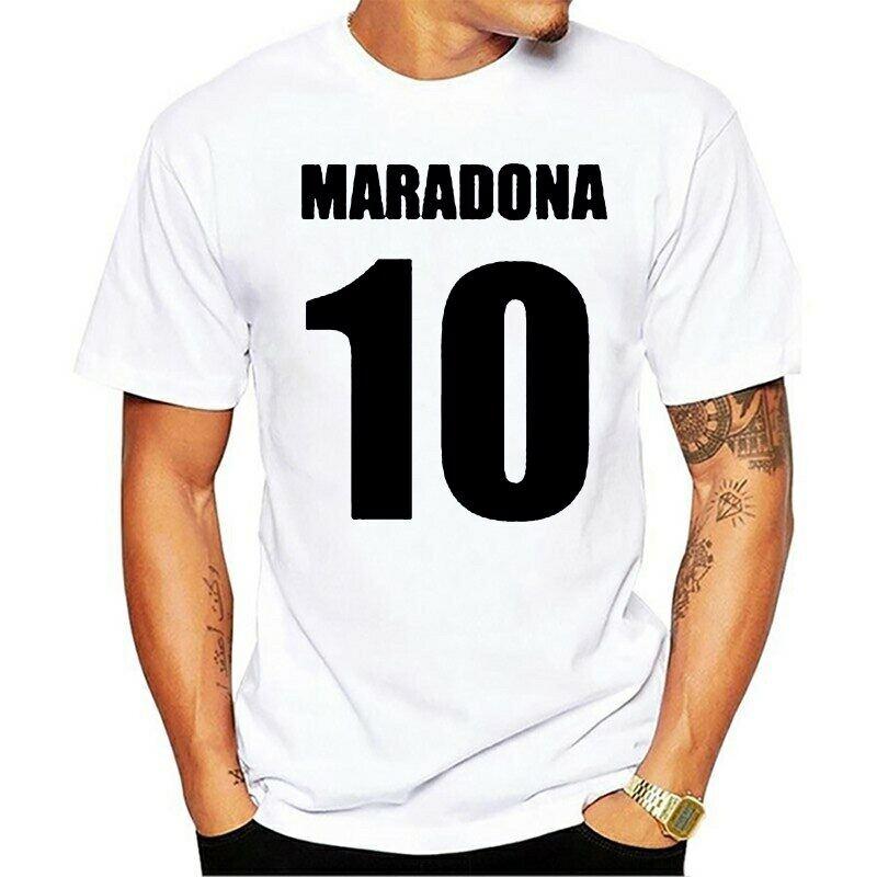 ARGENTINA MARADONA NUMBER 10 RETRO STYLE T-SHIRT  SIZE MEN/'S LARGE BRAND NEW