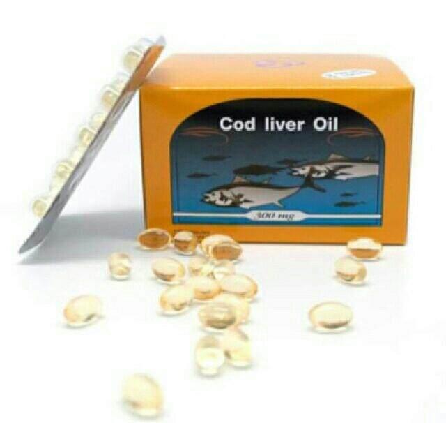 น้ํามันตับปลา พรีเวนทีฟไลฟ์  Cod Liver Oil High Source Of Omega-3 Vitamin E ขนาด 100 เม็ด.