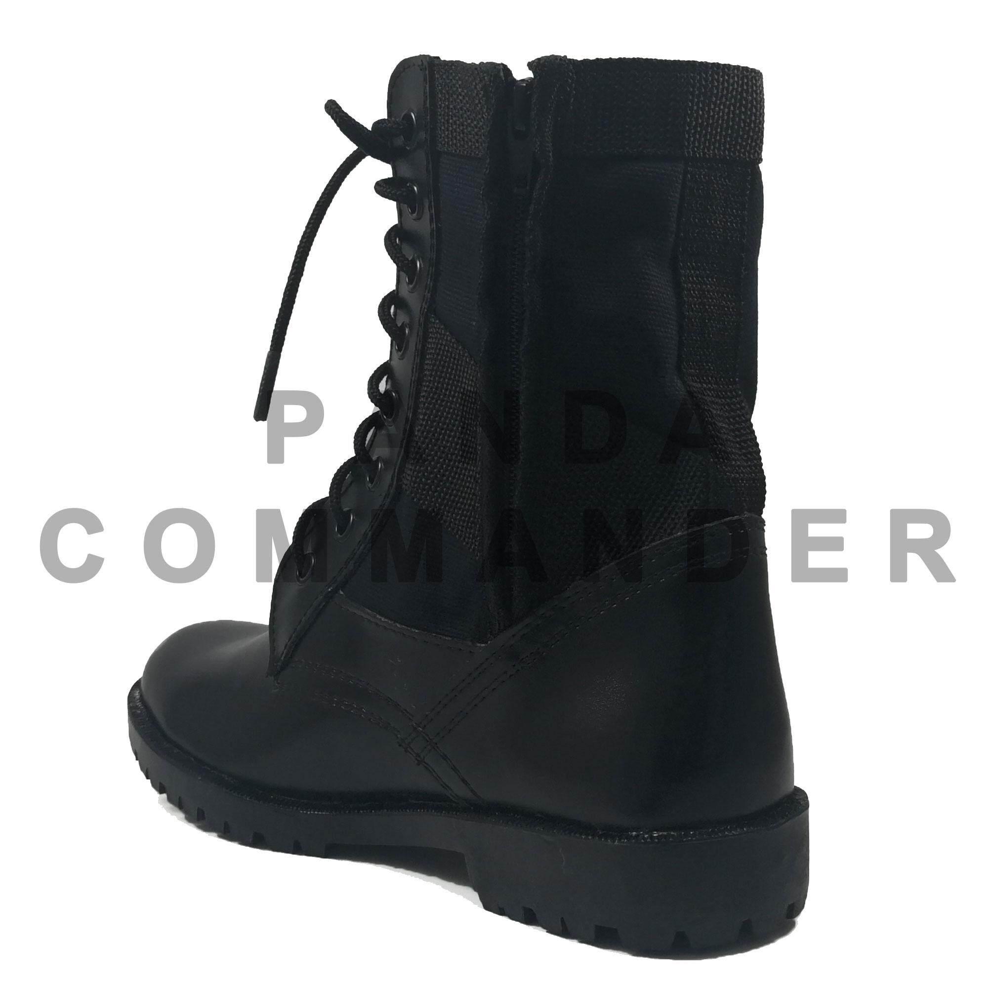 รองเท้าจังเกิ้ล รองเท้ารด รองเท้าทหาร แบบ มีซิปข้าง.