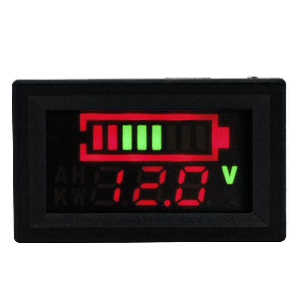 มิเตอร์วัดไฟพร้อมแถบวัดระดับไฟ สำหรับการชาร์จแบตเตอรี่ 12v Led Battery Digital Voltmeter With Level Indicator Bar Meter Guage By Padpad.