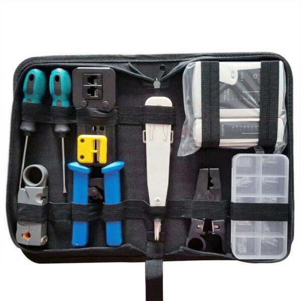 Bảng giá RJ45 Network Tester Tool Kit LAN Cable Wire Cutter Crimper Crimping Pliers Maintenance Tool Set Bag Phong Vũ