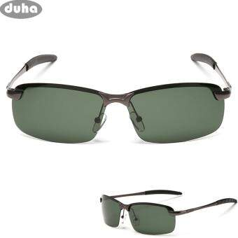 ผู้ชายส่วนบุคคล Polarized UV400 FLYER แว่นตากันแดดสีเขียว