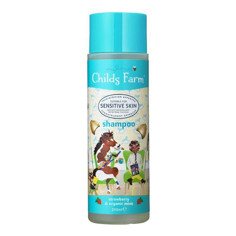 รีวิว ชายด์ ฟาร์ม แชมพูสูตรเพิ่มความชุ่มชื้นให้เส้นผม 250 มล. (Childs Farm Shampoo, strawberry & organic mint)