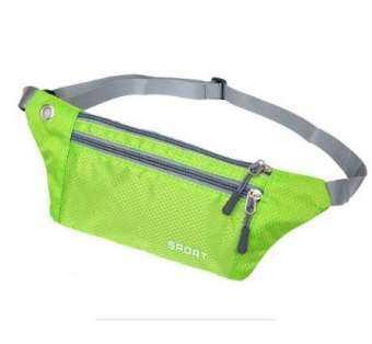 กระเป๋าคาดเอว ออกกำลังกาย วิ่ง แบบกันน้ำ กว้าง 12x34 cm ดีไซน์ทรงสปอร์ตกระชับและทันสมัย มีช่องซิปสามารถพกสมาร์ทโฟนได้ มีช่องสำหรับใส่เหรียญและ เหน็บปากกา-